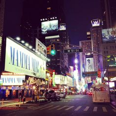 Noted as one of NYC's most popular tourist attractions, The Broadway Theater District, Broadway, hosts world renowned theatrical performances, presented in over 40 professional theaters in Manhattan.
