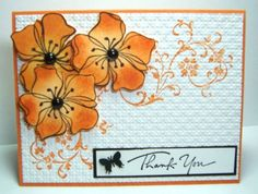 Thank You by jandjccc - Cards and Paper Crafts at Splitcoaststampers Asian Cards, I'm Tired, Heartfelt Creations, Fall Cards, Card Maker, Stamping Up, Flower Cards, Greeting Cards Handmade, Handmade Art