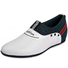 White  height shoes 6cm / 2.36inch with the SKU:MENGOG_73740 - Korean white lifts for shoes men height enhancing 6cm / 2.36inches ventilate casual shoes