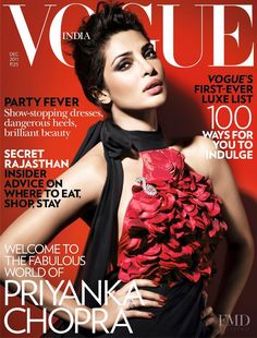 Covers with Priyanka Chopra 000 2011 of India based magazine Vogue India from Condé Nast Publications including covers, editorials, company information, history and more.