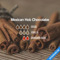 Essential Oil Scents, Essential Oil Perfume, Essential Oil Diffuser Blends, Doterra Essential Oils, Yl Oils, Perfume Recipes, Mexican Hot Chocolate, Diffuser Recipes, Essentials