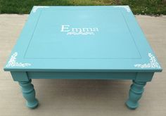 Vintage solid wood kids play tables, refurbished with Annie Sloan chalk paint customized with color of your choice. Waxed with Annie Sloan clear wax for a durable finish. These are all high quality solid wood tables that have stood up to the test of time. Perfect for our kiddos who play hard!