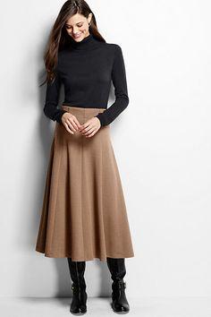 Women's Herringbone Boot Skirt - The gored shape is so pretty. Nice and swirly.