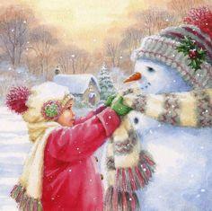 Christmas Scenes, Christmas Past, Cozy Christmas, Christmas Pictures, All Things Christmas, Beautiful Christmas, Vintage Christmas, Christmas Crafts, Christmas Artwork