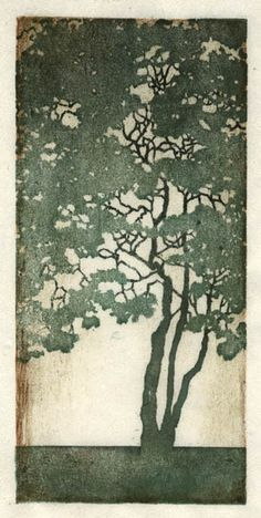 extra large giclee poster print of original painting Watercolor illustration Gravure Illustration, Illustration Art, Illustrations, Art Japonais, Art Graphique, Art Plastique, Woodblock Print, Tree Art, Japanese Art