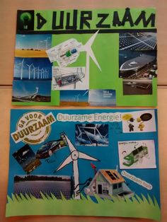 Collages maken over duurzame energie