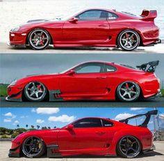 Red Toyota Supra's
