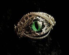 Gothic Fantasy Bracelet - Royal Dragon Eye by LadyPirotessa.deviantart.com on @deviantART