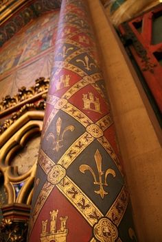 "audreylovesparis: ""Pillar of the Sainte-Chapelle (Holy Chapel) in Paris. """