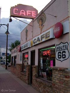 Route 66. Joe & Aggie's Cafe, another vintage diner still open for business.