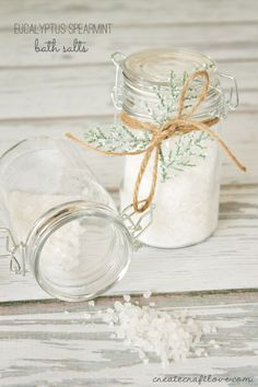 Eucalpytus Spearmint Bath Salts | Create Craft Love