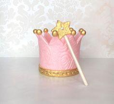 Princess Birthday Crown Cake topper/Edible fondant crown Topper/Custom Birthday Crown Cake Topper/Tiara cake Topper/Princess party decor by MargieSugarArt on Etsy https://www.etsy.com/listing/271124597/princess-birthday-crown-cake