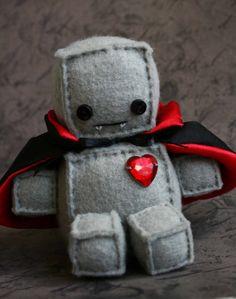 Teeny Weeny Holloweeny DracuBot by Littlebrownbyrd on Etsy, $23.00