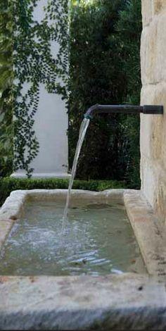 Stone Fountains via Chateau Domingue as seen on linenandlavender.net