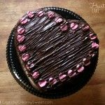 Chocolate Ganache Heart Cake