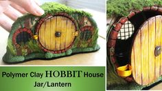 DIY Polymer Clay Hobbit House Jar/Lantern