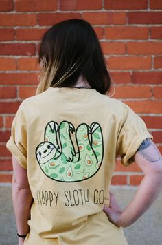 Cute Baby Sloths, Cute Sloth, Sid The Sloth, Sloth Shirt, Yellow Tees, Statement Tees, My Spirit Animal, To My Future Husband, Cute Outfits