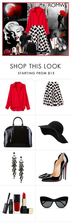 """""""Romwe!"""" by adanes ❤ liked on Polyvore featuring мода, Jolie Moi, Louis Vuitton, MANGO, First People First, Christian Louboutin, Guerlain, STELLA McCARTNEY, Christian Dior и women's clothing"""