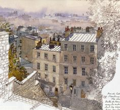 Architectural Sketches - Fabrice Moireau: Watercolour from Paris Sketchbook