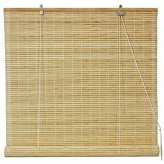 "Oriental Furniture Bamboo Roll Up Blinds in Natural  (72""x72"" ... I want shades for my back porch .. this looks pretty neutral and easy to hang.)"
