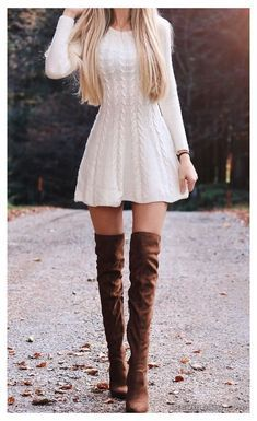 Esta es una historia de una chica que desde muy lejos llegó a Beacon … #fanfic # Fanfic # amreading # books # wattpad Casual Dress Outfits, Cute Casual Outfits, Mode Outfits, Stylish Outfits, Girl Outfits, Feminine Fall Outfits, Simple Fall Outfits, Sweater Dress Outfit, Fall Outfits For Work