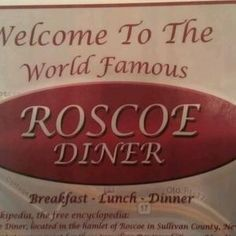 Roscoe Diner - route 17
