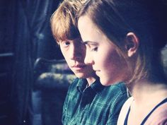 Ron and Hermione's love story was the most romantic, because it only took one kiss to convince us all.