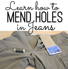 Mending Holes in Jeans and Cargo Shorts