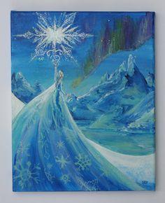 Not Available. :( Frozen  Let It Go by LizzyHansonArt on Etsy, $70.00