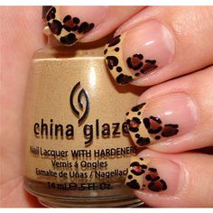 Leopard nail art...for the wild side in me ;) No, this would look cute on my daughter, not me :)