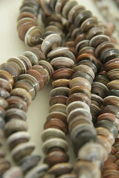 Cappucino colour paper beads  Shell shape by lovephilippines
