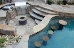 25 Creative Pool Bar Ideas | Custom Pool Ideas #poolbar Architectural Landscape Design Summer Pool Party, Pool Parties, Grill Area, Bbq Area, Pool Bar, Patio Bar, Pool Ideas, Bar Ideas, Backyard Ideas