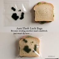 A sure way to keep people from taking your lunch at the office!