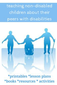 List of resources to teach non-disabled kids to better understand and accept their peers with disabilities, understanding breaks down fear and hate. I want my girls to be accepting of others different than them. Teaching Kids, Kids Learning, Teaching Resources, Disability Awareness Month, Autism Awareness, Learning Activities, Activities For Kids, Special Needs Kids, School Psychology