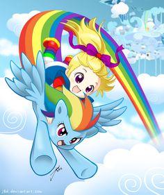 RAINBOW BRITE AND RAINBOW DASH!  Twice The Rainbow by *J8d on deviantART