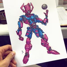 Robo-GALACTUS!  #galactus #marvelcomics #marvel #mech #silversurfer #robot #drawing #copics #commission
