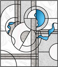 Abstract Stained Glass Pattern | Abstract Glass Feature Window