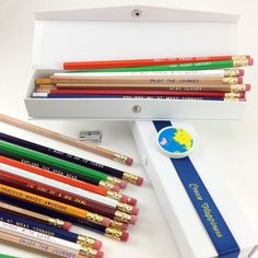 Pencils And Sharpener Set, $19.75, now featured on Fab.