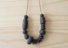 Handmade Polymer Clay Bead Fancy Necklace  Luxe by enaandalbert
