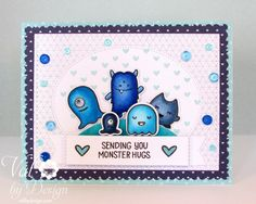 Light It Up Blue For Autism Awareness Blog Hop: Lawn Fawn, Mama Elephant, Pretty Pink Posh {ValByDesign, 2015}