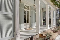 Floor to ceiling shutters - so southern