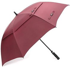 G4Free Ultimate Golf Umbrella Double Canopy Large Oversize Wine Red Windproof Waterproof Auto Open Umbrellas for WomenWine Red *** Details can be found by clicking on the image.