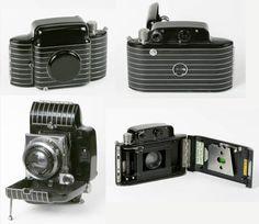The Art Deco Kodak Bantam Special. It looks like a camera that Batman would use. Circa 1936-47.
