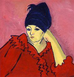 Alexei Jawlensky - Helene with Dark Blue Turban. 1910