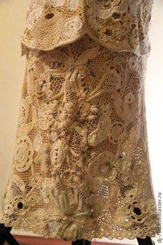 """Юбка """"Кружевной стиль"""" - юбка вязаная,юбка летняя,авторская ручная работа"""