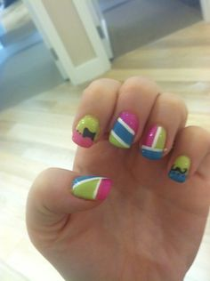 Gender reveal nails #salonemage @scperry