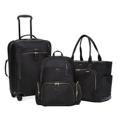 Travel Gear! TUMI Luggage Collection. Looks so simple and classic. Saw this at Bloomingdales.