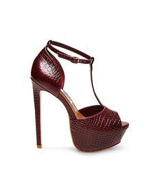 KRIMINAL Platform Stilettos, Peep Toe Platform, Stiletto Pumps, High Heel Pumps, Pumps Heels, Platform Shoes, Ankle Strap High Heels, Hot High Heels, Womens High Heels