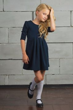 Children and Young Toddler School Uniforms, School Uniform Outfits, Kids Uniforms, School Dresses, Cute Girl Dresses, Cute Girl Outfits, Little Girl Dresses, Young Fashion, Kids Fashion