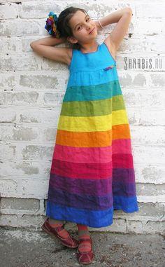 Купить Платье-сарафан из льна ~ Sanabis